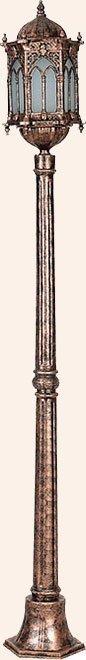 Orta Boy Osmanlı Fener Tek Uzun İtalyan Çim Direk