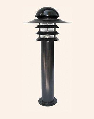Y.A.42080 - Modern Bollard Bega Çim Direği